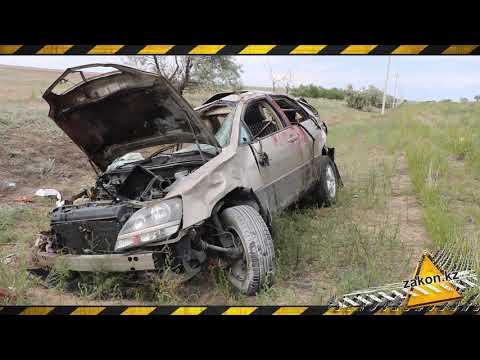 Семья попала в страшную аварию на трассе Алматинской области