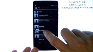 Motorola Droid Razr M - كيف يمكنني إنشاء رسالة نصية جديدة