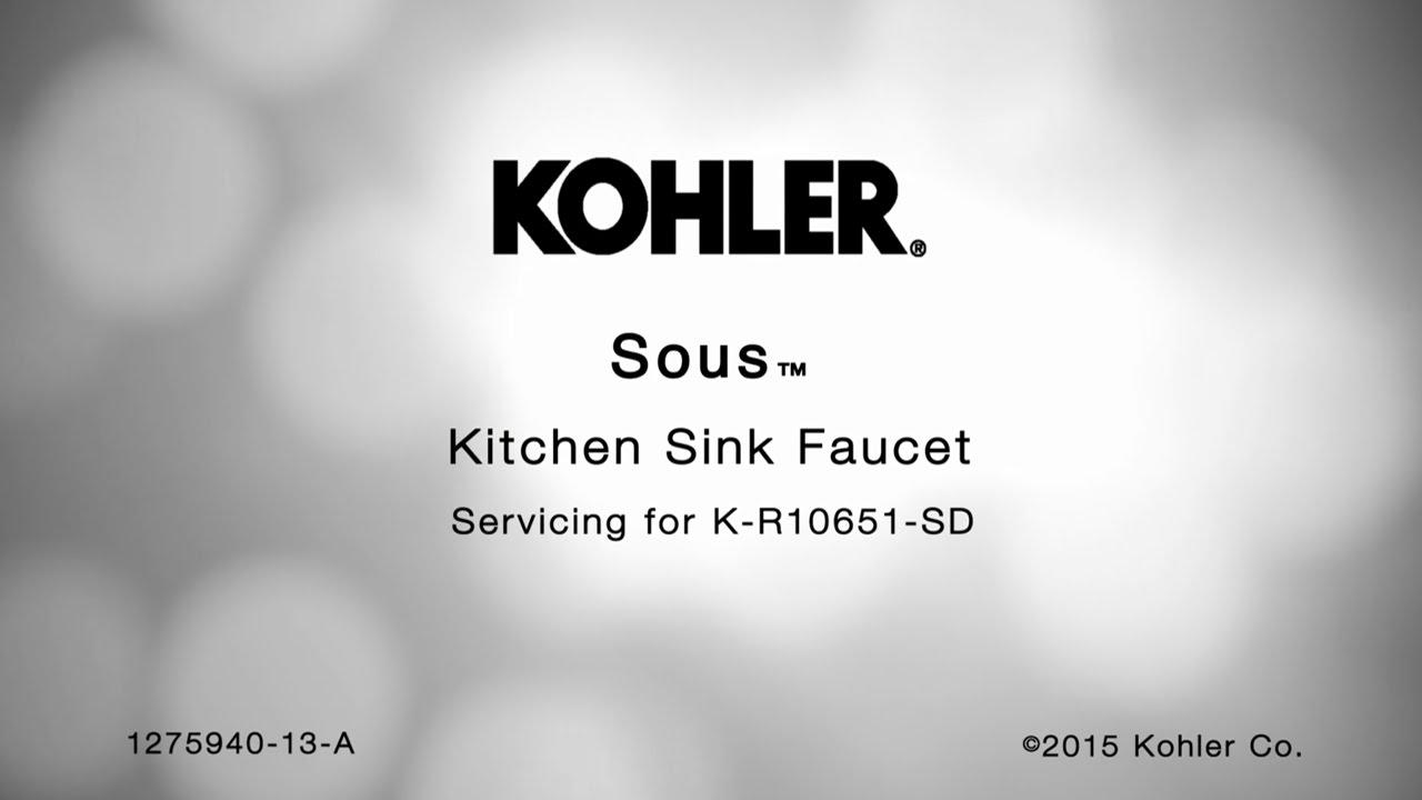 Sous kitchen sink faucet spring removal instructions kohler