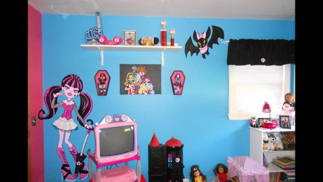 Uncategorized Monster High Paint Colors monster high bedroom youtube