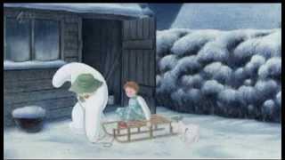 Снеговик и снежный пес.