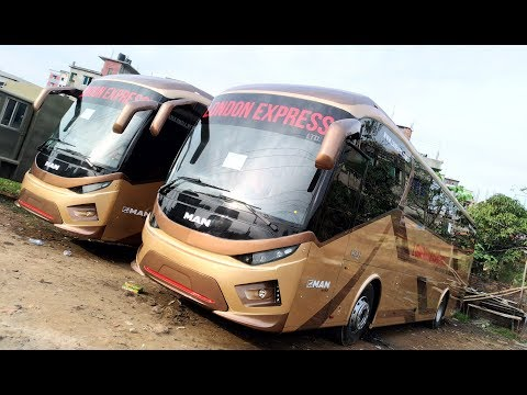 London Express MAN Bus In Depth Exterior and Interior View In Bangladesh