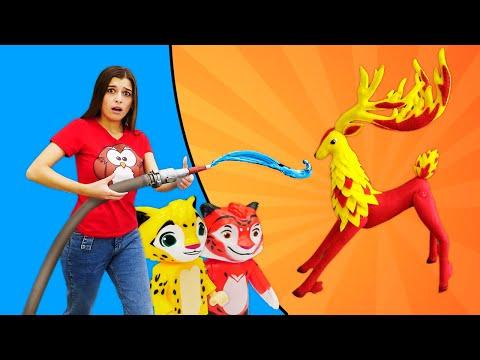 Веселые игры девочкам. Красный олень в волшебном лесу! Классные наборы Лео и Тиг.