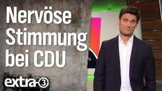 Nervöse Stimmung bei der CDU