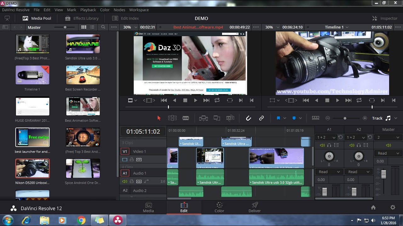 Top 3 Best Video Editing Software For Windows 7 Windows 8 8 1 Windows 10 Mac Free 2018 Youtube