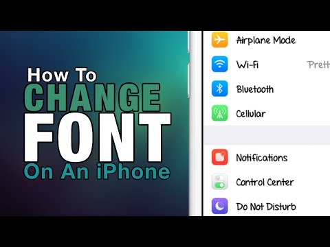 How To Change Font On Your iPhone - iPad - iPod Touch 2016