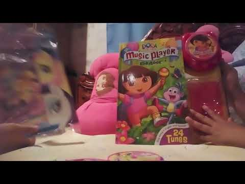 My Little Pony and dora music player surprise books