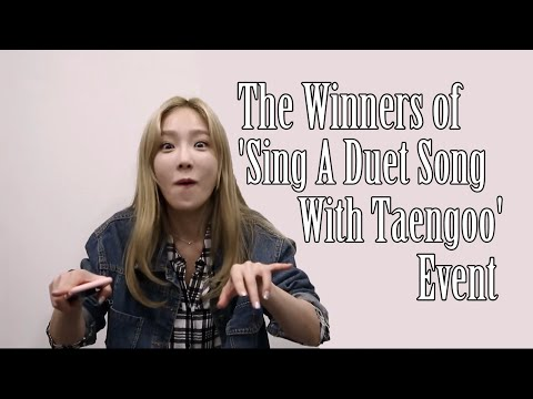 The Winners Of 'Sing A Duet Song With Taengoo' Event (Nov 21, 2015)