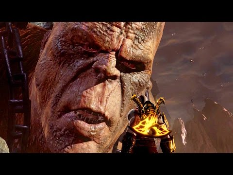God of War 3 Remastered: Cronos Boss Fight PS4 1080p 60fps