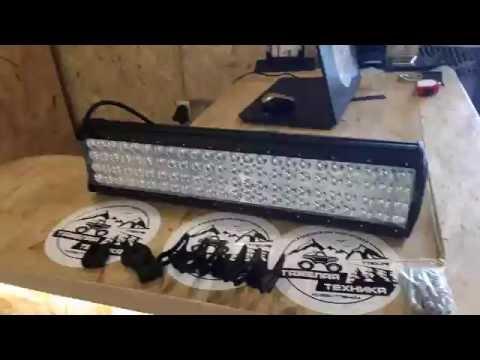 Тяжелая Техника: светодиодная балка четырехрядная 288 ватт CREE