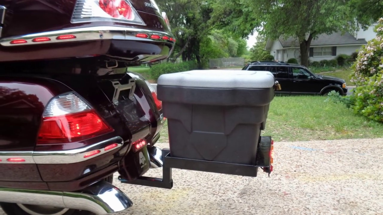 honda goldwing gl1800 & harley carry-all receiver rack & tote