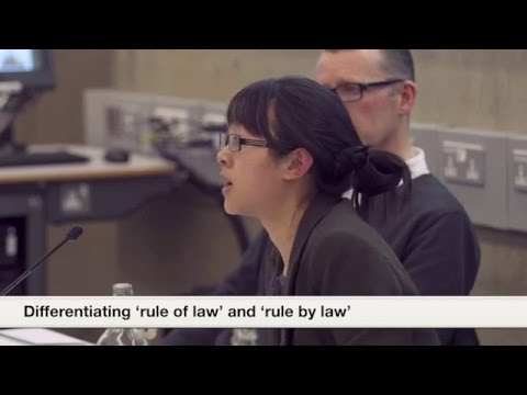 Differentiating 'rule of law' and 'rule by law'