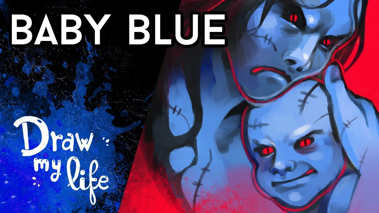BABY BLUE CHALLENGE | Juego Creepypasta | Draw My Life