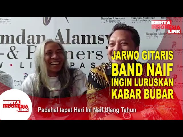 Jarwo Gitaris Naif Klaim Bahwa Naif Masih Ada