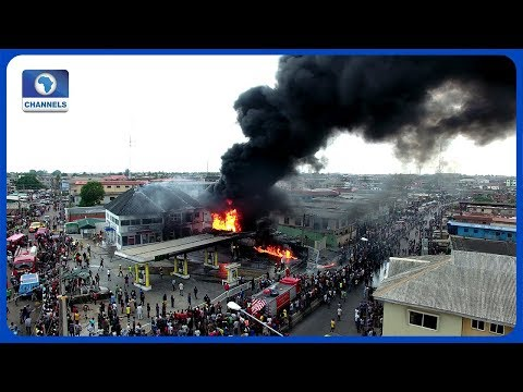 How NNPC Petrol Station In Ogba Was Gutted By Fire