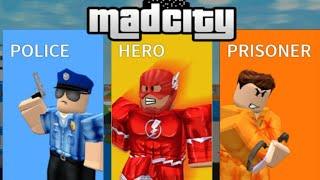 ROBLOX: GATHABLOX EM POLICIA E LADRÃO (MADCITY)