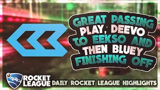Download Video BEST Rocket League Plays: Great passing play, Deevo to Eekso and then Bluey finishing off MP3 3GP MP4