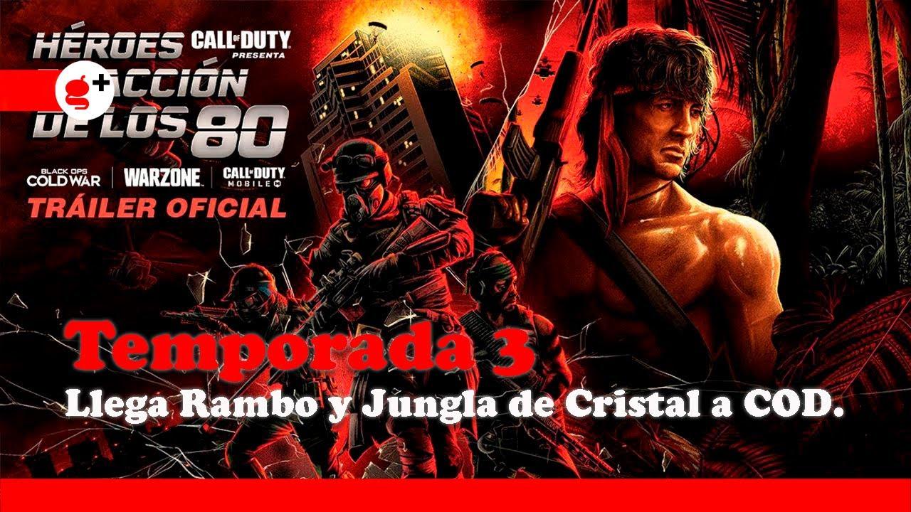 CALL OF DUTY Warzone   Héroes de acción de los 80, Temporada 3 (Tráiler en español)