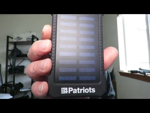 4 Patriots Portable USB Solar Battery Bank