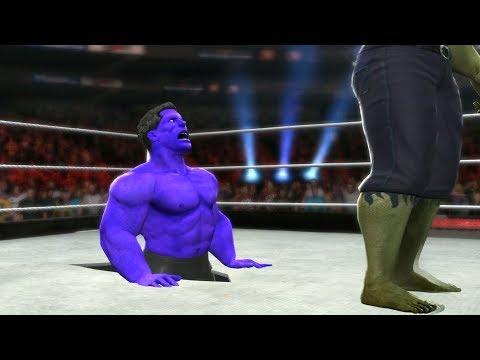 HULK VS BLUE HULK - I Quit Match