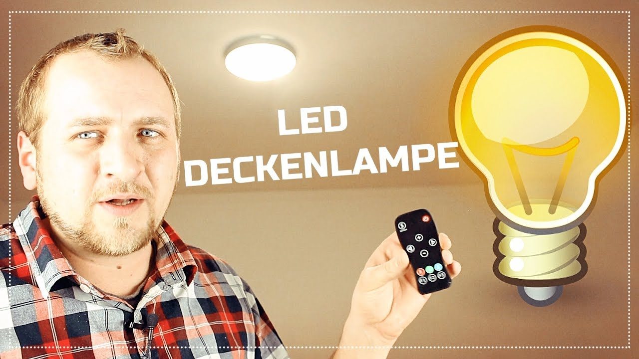 led deckenlampe mit dimmer montage und test youtube. Black Bedroom Furniture Sets. Home Design Ideas