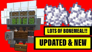 How To Make A Zero Tick BONEMEAL Farm!!! (UPDATED) For Minecraft Bedrock!