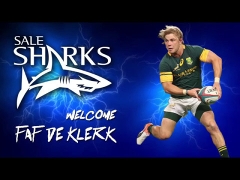Welcome to Sale Sharks Faf de Klerk