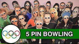 5 Pin Bowling - Runforthecube Celebrity Olympics - Felix Kjellberg, Kylie Jenner, Sanjeev Cube