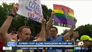 Supreme Court allows transgender military ban