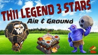 Clash of Clans Update | Townhall 11 Legend Air & Ground 3 Star Attacks