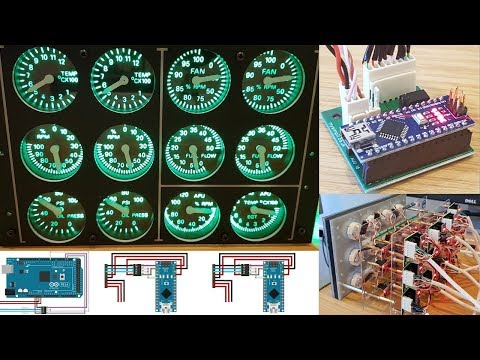 Simpit A10C - Engine Instrument Panel via RS485 (MAX487 Transceiver) Network