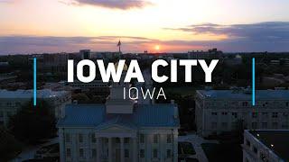 Iowa City and The University of Iowa   4K drone footage