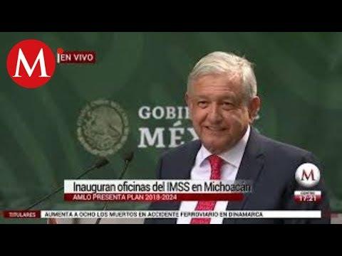 AMLO presenta el Plan Nacional del IMSS en Michoacán