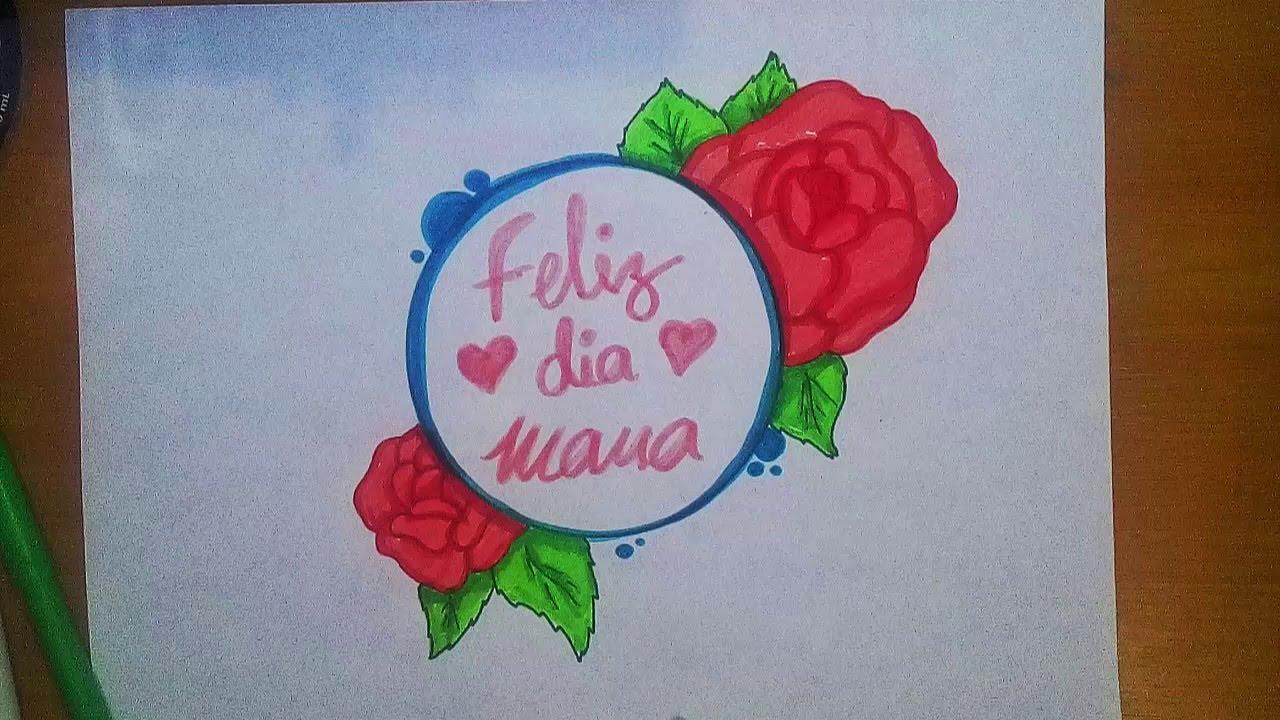Como Dibujar Mensaje Para Mama Frases De Amor Para Mama Feliz Dia