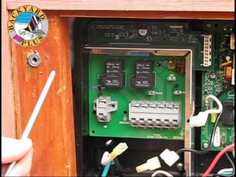 sears garden tractor wiring diagram how to replace a hot spring spa heater relay board - youtube garden spa wiring diagram