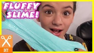 DIY FLUFFY SLIME WITH GLITTER AND HOLO STARS!  |  KITTIESMAMA