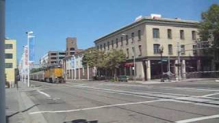 UP&BNSF Street Running in Jack London Square, CA