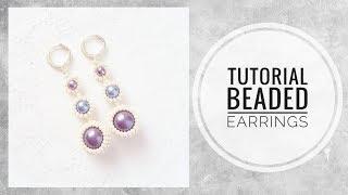 #МК - Серьги из бисера и бусин   #Tutorial - Earrings from beads