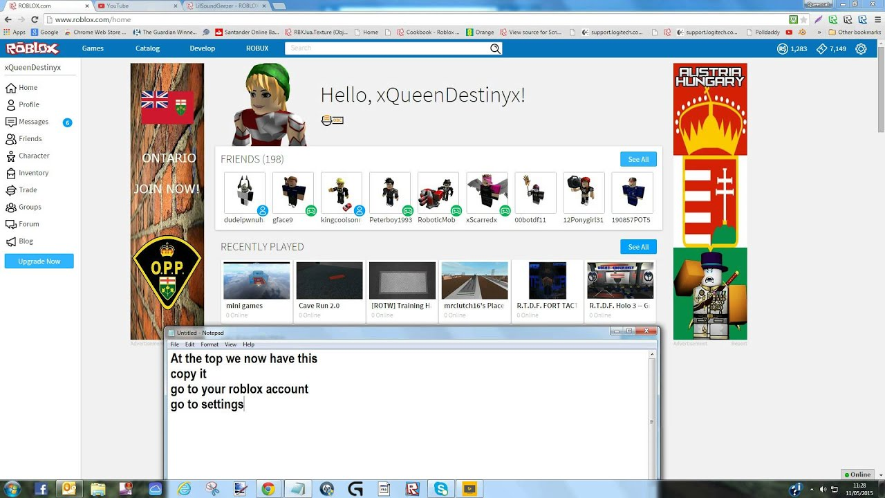 How To Put Your Youtube Account On Your Roblox Profile Updated See