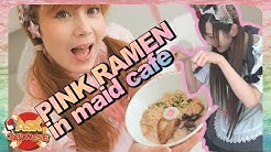 VISITING THE MOST POPULAR MAID CAFE in AKIHABARA 2018  Pink Ramen Maids