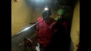 Junior Cat recording a dubplate - Kaya Sound dubplates service (Kingston,Jamaica)