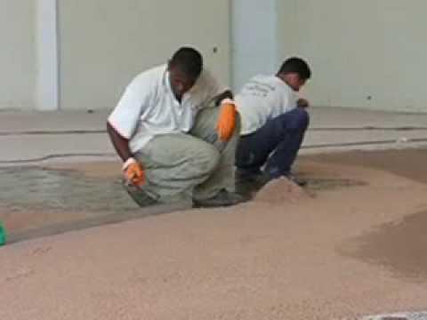 Pini pisos industriais pintura poliuretano e espatulado - Pintura para cemento ...