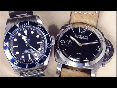The Truth About Replica Watches   Panerai Fiddy 127 And Tudor Black Bay Blue In 4k