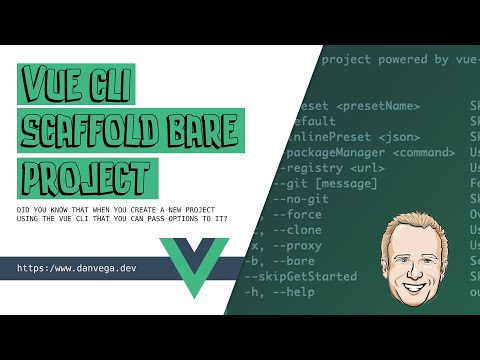 How to create a bare project with the Vue CLI thumbnail