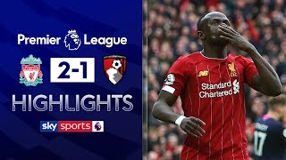 Salah and Mane help Liverpool come from behind to win | EPL Highlights | Liverpool 2-1 Bournemouth