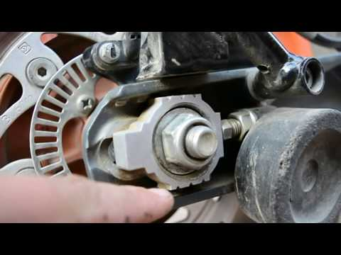 DIY KTM wheel alignment and chain adjustment  | ktm Duke 390