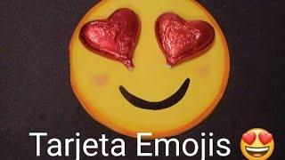 Tarjeta de  Emoji para San Valentin:amor y amistad