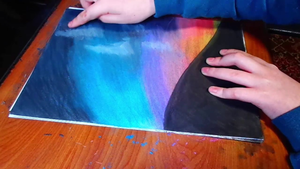 Drawing A Night Sky With Soft Pastels Drawing Soft Pastels Youtube