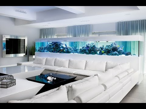Lovely Artistic Living Room Aquarium That So Inspiring