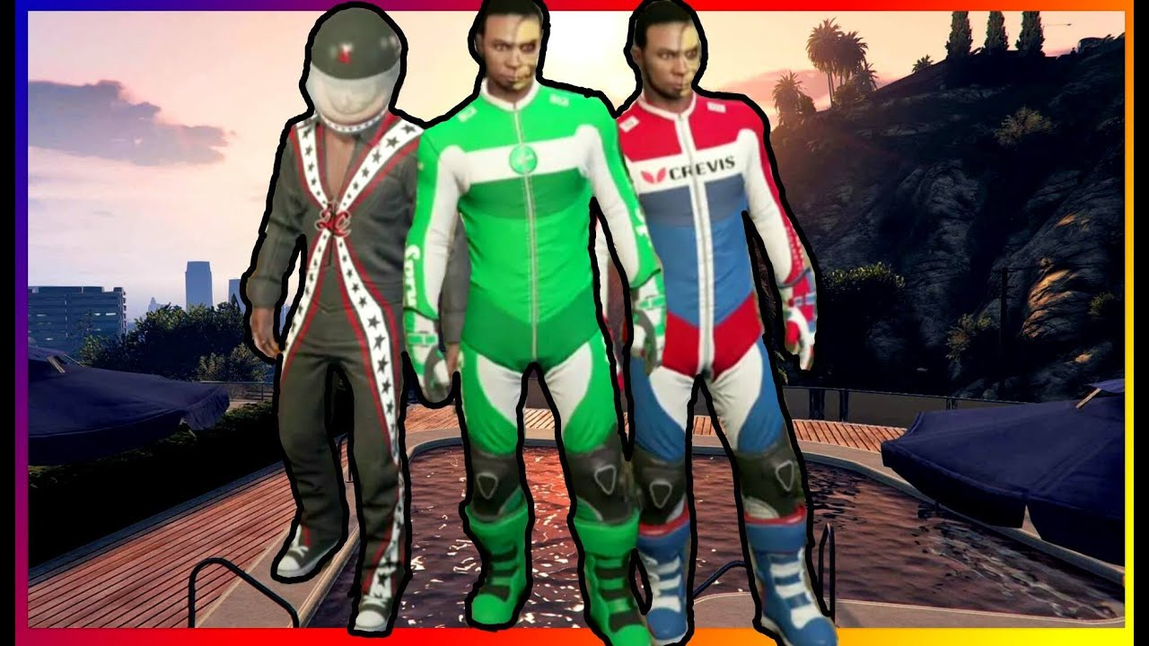 GTA 5 NEW CUNNING STUNTS OUTFITS [RACING SUITS] [BIKER SUITS] - YouTube